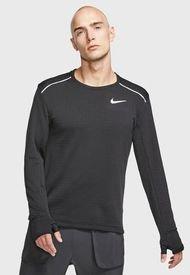 Polera Nike M NK SPHR ELMNT TOP CRW LS 3.0 Negro - Calce Ajustado
