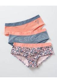 Panty Hipsters Y Cacheteros Multicolor Leonisa 62310X3
