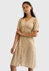 Vestido Vero Moda Beige - Calce Regular
