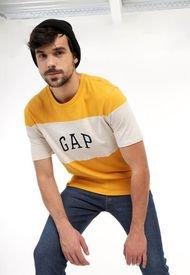 Camiseta Amarillo-Blanco-Azul Oscuro GAP