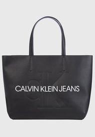 Cartera SCULPTED MONOGRAM SHOPPER 29 Negro Calvin Klein