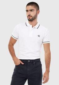 Polo Blanco-Negro Calvin Klein