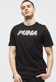 Polera Puma MODERN SPORTS Logo Tee Negro - Calce Regular