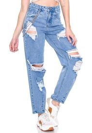 Jeans Omega Azul Best West Jeans
