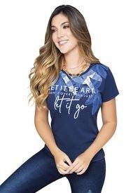 Camiseta Para Mujer Azul Navy MP