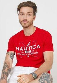 Camiseta Rojo-Blanco Nautica