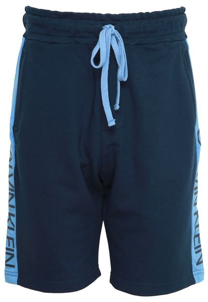 Bermuda Calvin Klein Underwear Reta Lettering Azul