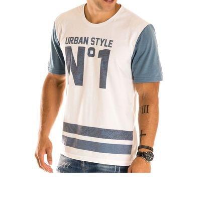 Camiseta Masculina Urban Style Estampa Frontal - Area Verde