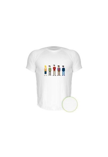 Camiseta Manga Curta Nerderia The Big Bang Thery 2 Branco