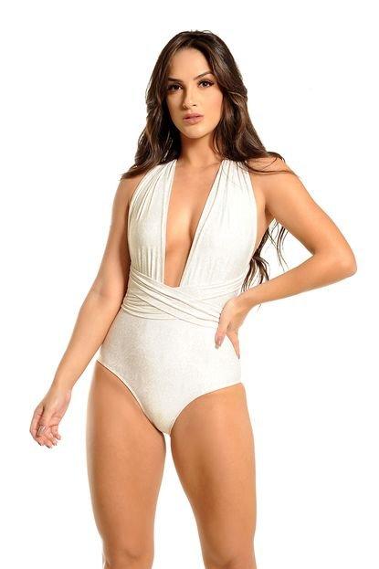 MOS Beachwear Maiô Mos Beachwear De Faixas Estampado Poetto Portal Off White KoQv9