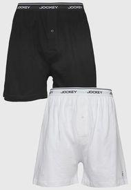 Pack 2 Boxer Jockey Blanco/ Negro - Calce Ajustado
