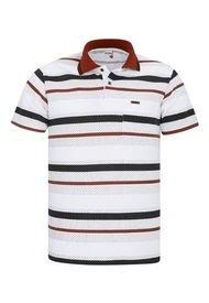 Camiseta Tipo Polo Terracota Audax Con Bolsillo