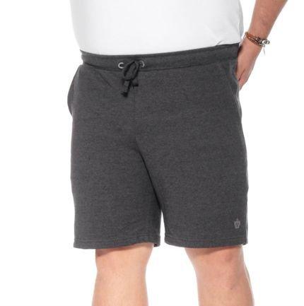 Bermuda Moletinho BigShirts plus size Wafer Mescla Escuro
