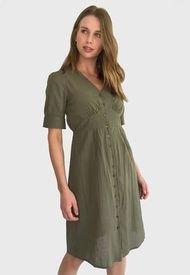Vestido Vero Moda Verde - Calce Regular