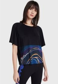 Polera Desigual T-Shirt Cupro Marble Negro - Calce Holgado