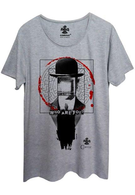 Camiseta Corvuz Who Cinza Mescla