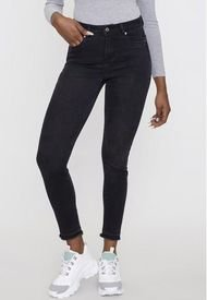 Jeans Básico Push Up Skinny 1 Botón Negro   Corona