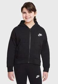 Polerón Nike Niñas G NSW CLUB FLC FZ HOODIE LBR Negro - Calce Regular