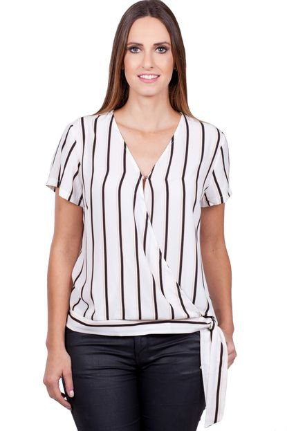Love Poetry Blusa Love Poetry Listrada Offwhite 4zxHt