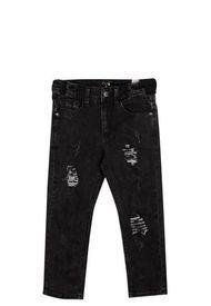 Jeans Detalles Razgados Negro Pillin