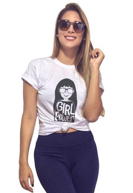 Joss T-Shirt Joss  Power Glasses Branco OYj3f
