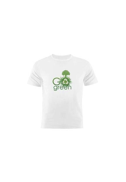 Camiseta Manga Curta Nerderia Go Green 2 Branco