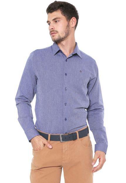 Camisa Forum Slim Logo Azul