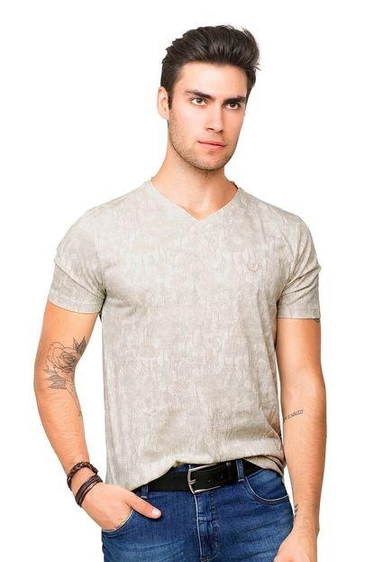 Camiseta Tony Menswear Estampada Branca