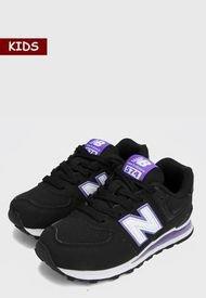 Tenis Lifestyle Negro-Morado-Blanco New Balance Kids 574