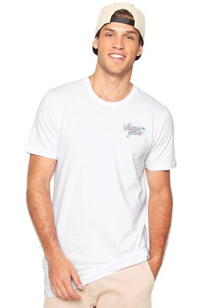 Camiseta Volcom Beach Bones Branca