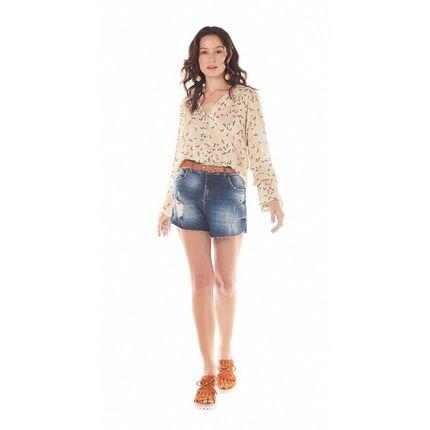 Zinco Shorts Zinco  Five Pockets Barra Refilada  Jeans Vtzxb