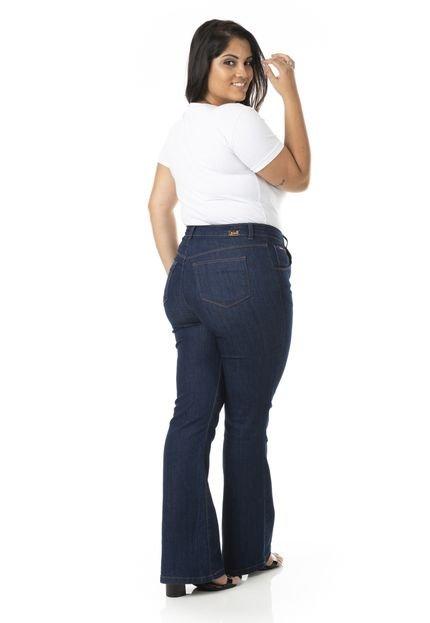 Plus Size - Confidencial Extra Calça Jeans Flare com Lycra Plus Size - Confidencial Extra AajgY