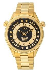 Reloj Tender Time De Acero IP Dorado Con Bisel Giratorio Tous