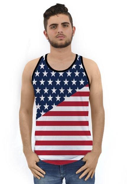 Regata Ramavi Estados Unidos Flag Preta