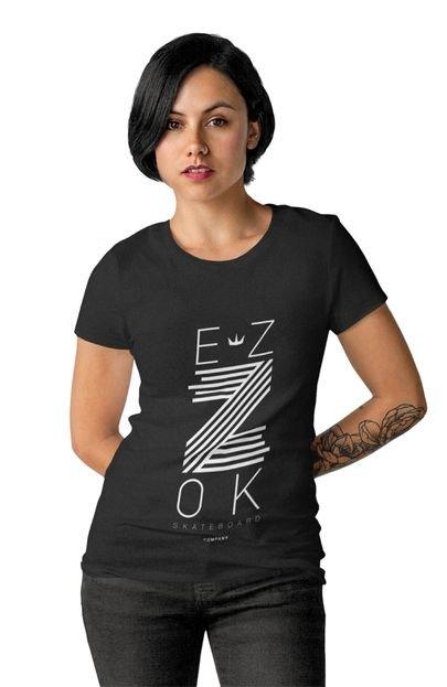EZOK Camiseta Feminina Ezok Z Preto sUbdJ