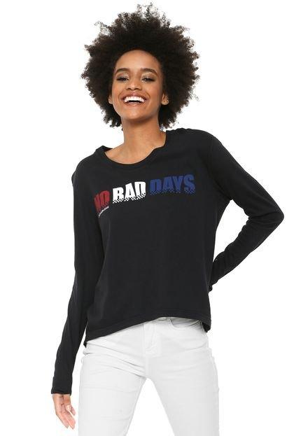 Calvin Klein Jeans Camiseta Calvin Klein Jeans No Bad Days Preta Vooms