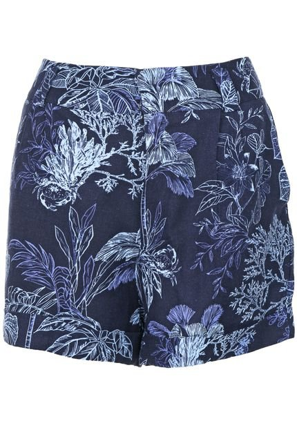 Dress to Short Linho Dress to Iara Azul-Marinho 7PA2s