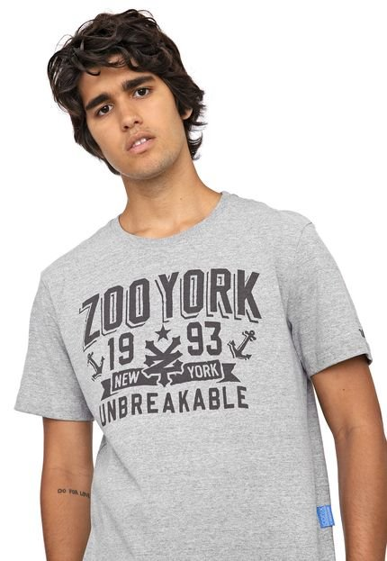 Camiseta Zoo York Anchors Cinza