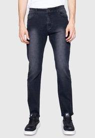 Jeans Slim Black Five Pockets Basic