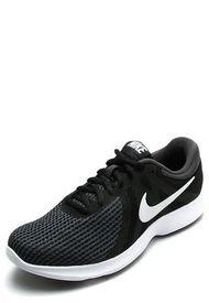Tenis Training Gris-Negro-Blanco Nike Revolution 4