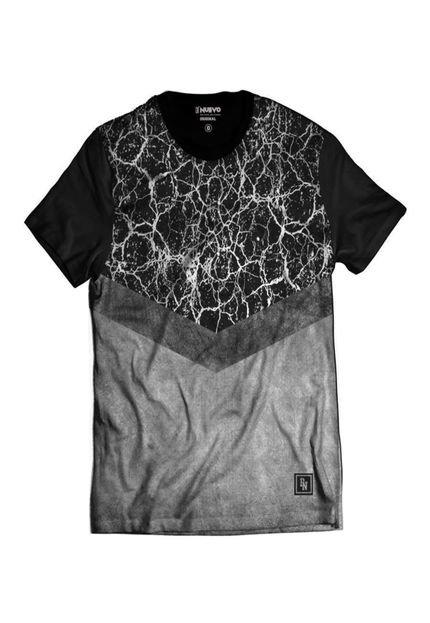 Camiseta Di Nuevo Estilo Top 2018 Cinza Streetwear Preta