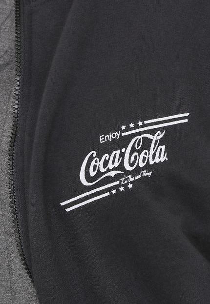 Coca-Cola Jeans Moletom Aberto Coca-Cola Jeans Aroma Lettering Preto t81Dc