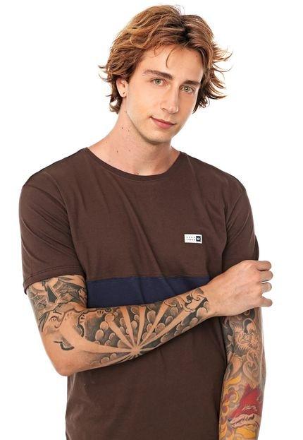 Camiseta Hang Loose Pruce Marrom/Azul-marinho