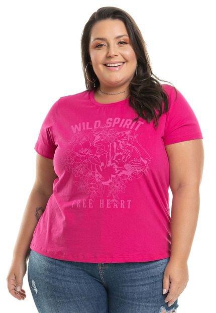 Miss Masy Plus T-Shirt Estampada Spirit - ROSA - XLG pJtF0