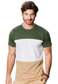 Camiseta Para Hombre Verde Militar MP