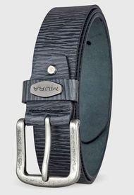 Cinturón Cuero Genuino Alessandro Gris Miura