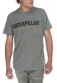 Polera Hombre Slim Fit Caterpillar Logo Tee Gris CAT