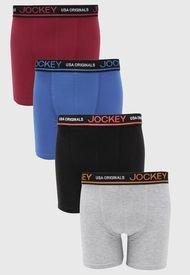 Pack 4 Boxer Jockey Multicolor - Calce Ajustado