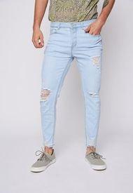 Jeans Hombre Slim Fit Destroyed Light Blue Family Shop