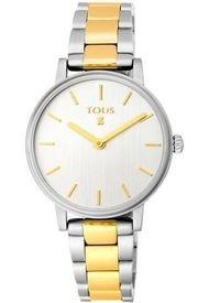 Reloj Rond Straight Bicolor De IP Dorado/acero Tous